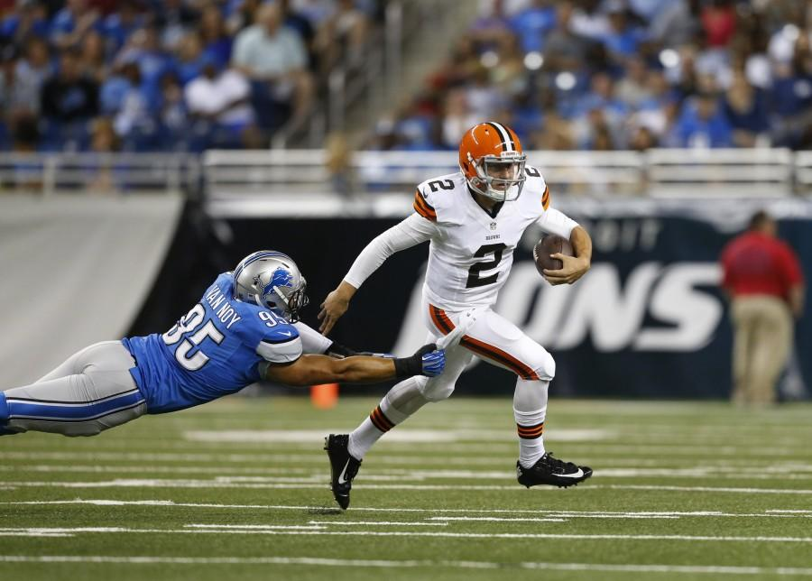 Johnny Manziel makes his long-awaited debut as the starting quarterback for the Cleveland Browns this week against Cincinnati. (photo from LATimes.com)