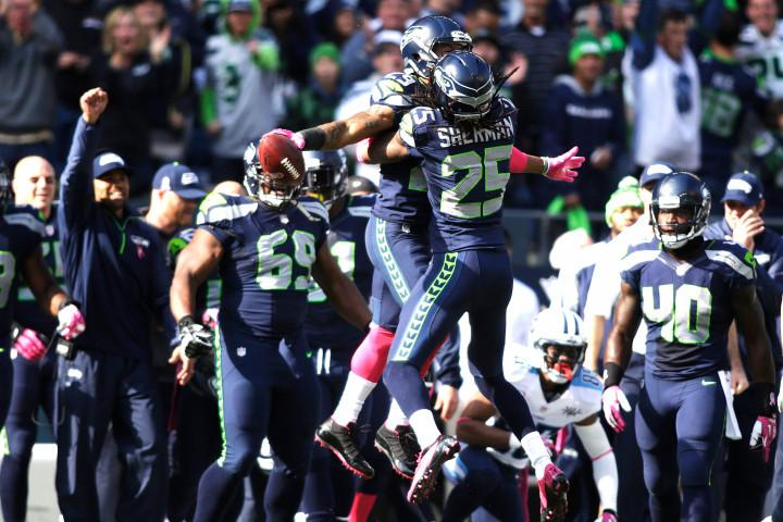 Earl Thomas (left) and Richard Sherman (Right) lead a Seahawks defense that has allowed less than a touchdown a game since November