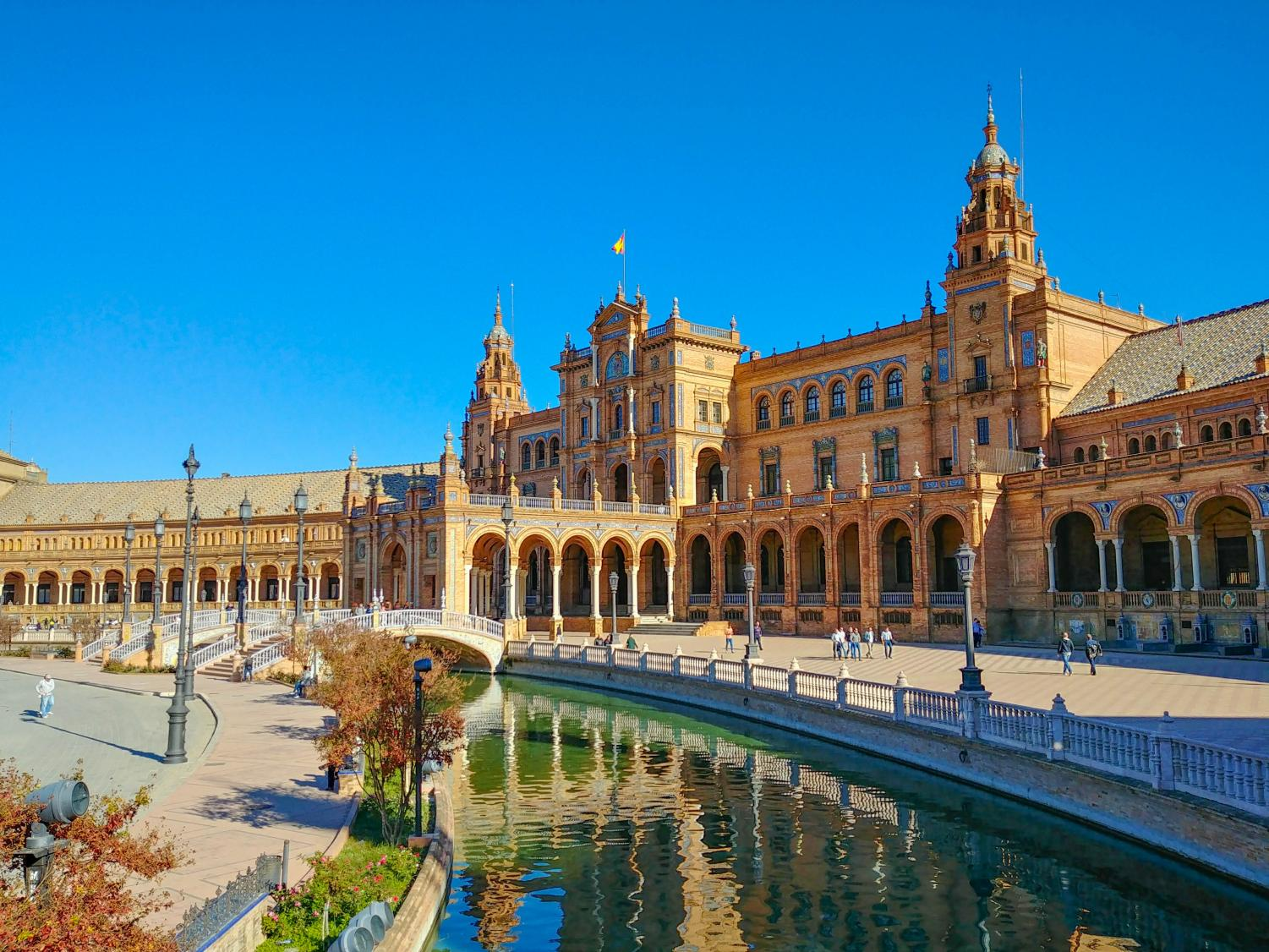 La Plaza de España in Seville, Spain