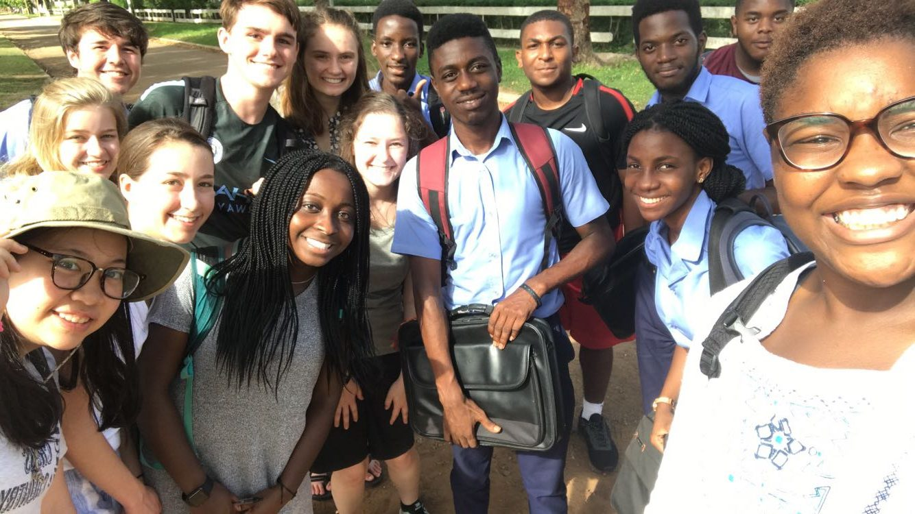 St. Andrew's students partner with our sister school in Ghana.